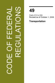 Fmvss cfr title 49 transportation chapter v for The federal motor vehicle safety standards are written